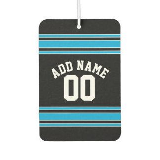名前をカスタムするおよび数を用いるチームジャージー カーエアーフレッシュナー