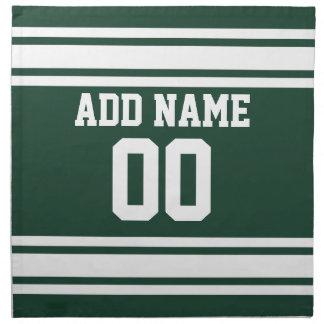 名前をカスタムするおよび数を用いるチームジャージー ナプキンクロス
