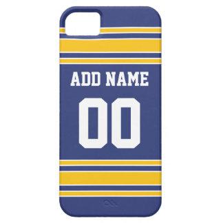 名前をカスタムするおよび数を用いるチームジャージー iPhone SE/5/5s ケース