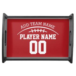名前をカスタムするおよび数を用いるフットボールのファン トレー