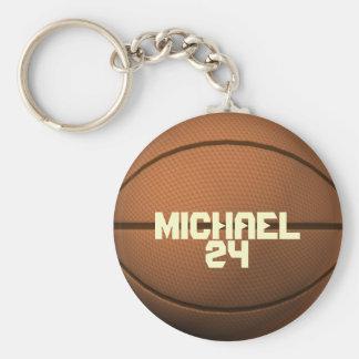名前をカスタムするおよび数バスケットボールKeychain キーホルダー