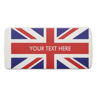 名前をカスタムするのイギリスの英国国旗の旗の消しゴム 消しゴム