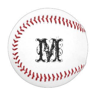 名前をカスタムするのイニシャルとのモノグラムのな野球 ベースボール