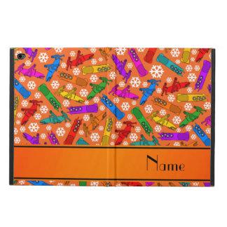 名前をカスタムするのオレンジ虹のボブスレーの雪片 POWIS iPad AIR 2 ケース