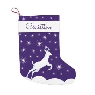 名前をカスタムするのクリスマスのストッキングのクリスマスのトナカイ スモールクリスマスストッキング