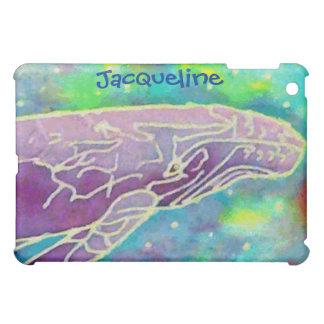 名前をカスタムするのザトウクジラのろうけつ染めのipadの場合 iPad mini カバー
