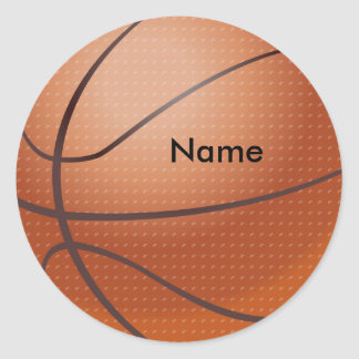 名前をカスタムするのバスケットボールのステッカー ラウンドシール