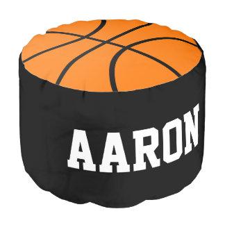 名前をカスタムするのバスケットボールは枕オットマンのPoufを遊ばします ラウンドクッション