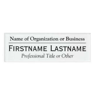 名前をカスタムするのバッジ-団体や組織または教会の名前 名札