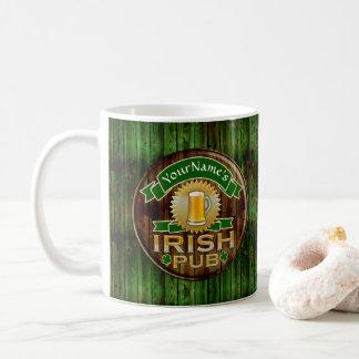 名前をカスタムするのバーのアイルランドのパブの印St patricks day コーヒーマグカップ