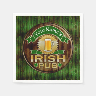 名前をカスタムするのバーのアイルランドのパブの印St patricks day スタンダードカクテルナプキン