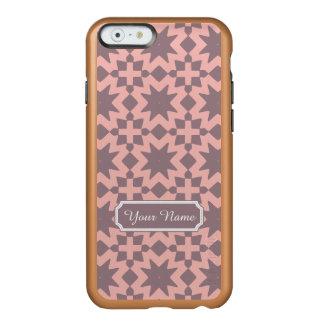 名前をカスタムするのパステル調ピンクのスタイリッシュでシックなパターン INCIPIO FEATHER SHINE iPhone 6ケース