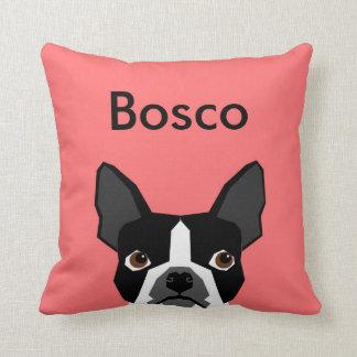 名前をカスタムするのボストンテリアの枕ペット枕 クッション