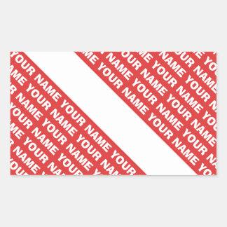 名前をカスタムするのモノグラムのスキューバダイビングの記号の旗 長方形シール