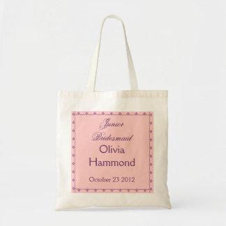 名前をカスタムするの後輩の新婦付添人の結婚式のバッグの紫色 トートバッグ