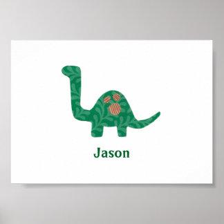 名前をカスタムするの恐竜ポスター ポスター