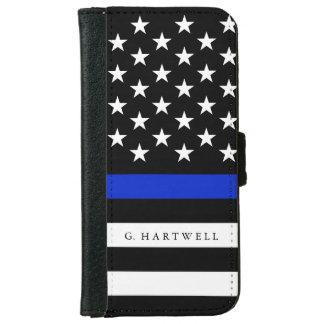 名前をカスタムするの愛国心が強い警察は印を付けます iPhone 6/6S ウォレットケース