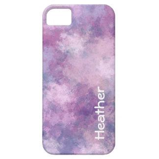 名前をカスタムするの抽象的な青、薄紫およびピンク iPhone 5 ケース