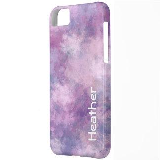 名前をカスタムするの抽象的な青、薄紫およびピンク iPhone 5C ケース