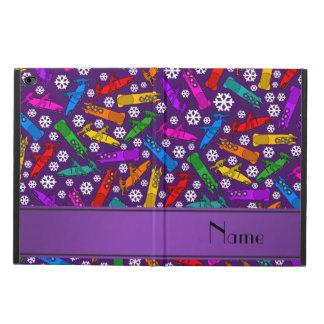 名前をカスタムするの紫色の虹のボブスレーの雪片 POWIS iPad AIR 2 ケース