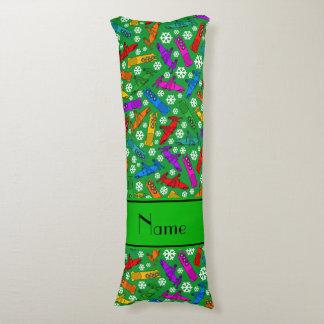 名前をカスタムするの緑の虹のボブスレーの雪片 ボディピロー