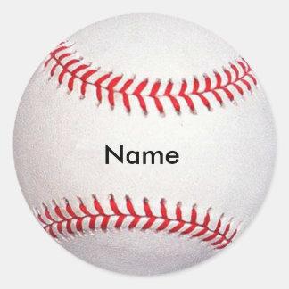 名前をカスタムするの野球のステッカー ラウンドシール