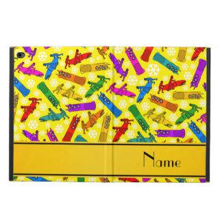 名前をカスタムするの黄色い虹のボブスレーの雪片 POWIS iPad AIR 2 ケース
