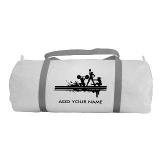 名前をカスタムするのDuffleの体育館のバッグ、白い色 ジムバッグ