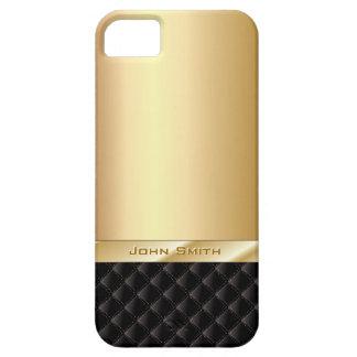 名前をカスタムするのiPhone 5の場合との贅沢な金ゴールド iPhone SE/5/5s ケース