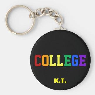 名前をカスタムするのLgbtゲイプライドの大学Keychain キーホルダー