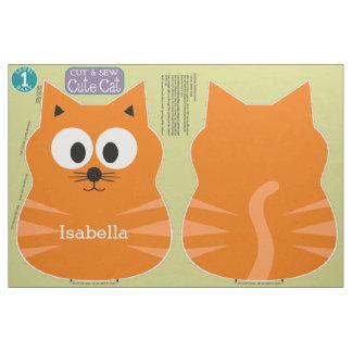 名前をカスタムするを用いるかわいい猫のぬいぐるみを切って下さい及び縫って下さい ファブリック