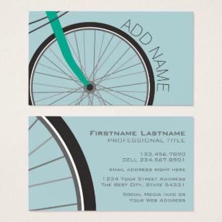 名前をカスタムするを用いるヒップスターの自転車の車輪 名刺