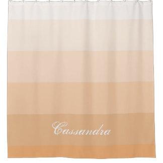 名前をカスタムするを用いるモダンで幾何学的な勾配のモモ シャワーカーテン