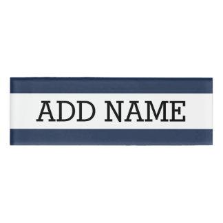 名前をカスタムするを用いる海軍背景 名札