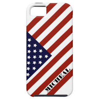 名前をカスタムするを用いる米国旗iPhone5Sの箱 iPhone SE/5/5s ケース
