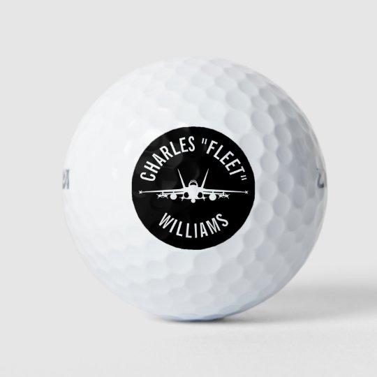 名前をカスタムするを用いるFA-18Cのスズメバチの戦闘機のゴルフ・ボール ゴルフボール
