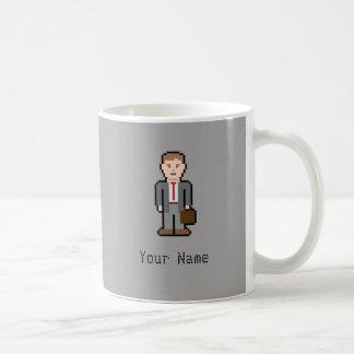 名前をカスタムするピクセル専門職 コーヒーマグカップ