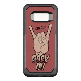 名前をカスタムする及び色の電話箱の石 オッターボックスコミューターSamsung GALAXY S8 ケース