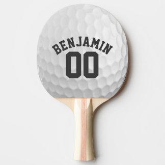 名前をカスタムする数を用いるゴルフ・ボールの窪み 卓球ラケット