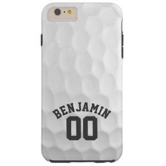 名前をカスタムする数を用いるゴルフ・ボールの窪み iPhone 6 PLUS タフケース