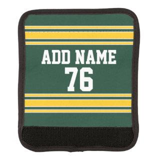 名前をカスタムする数を用いるフットボールジャージー ラゲッジ ハンドルラップ