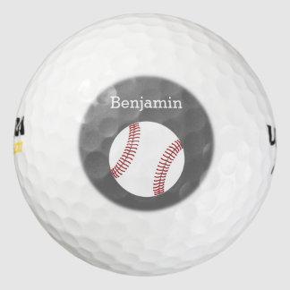 名前をカスタムする-灰色を用いる野球 ゴルフボール