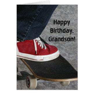 名前をカスタムする-男の子のための誕生日-スケートボーダー グリーティングカード