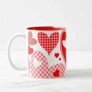 名前を挙げられたValentine's Heartsの ツートーンマグカップ