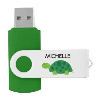名前入りでおもしろいなアオウミガメUSBのフラッシュドライブ USBフラッシュドライブ