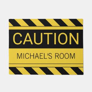 名前入りでおもしろいな注意の寝室のマット ドアマット