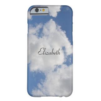 名前入りでお洒落な雲の電話箱 BARELY THERE iPhone 6 ケース