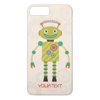 名前入りでかわいいレトロのロボット空想科学小説 iPhone 8 PLUS/7 PLUSケース
