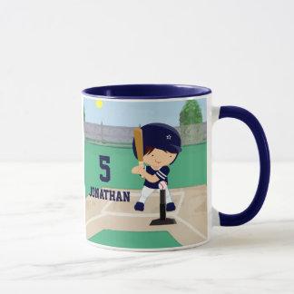 名前入りでかわいい野球の漫画プレーヤー マグカップ