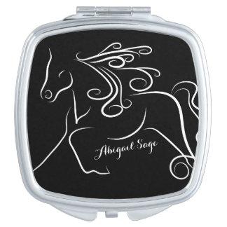 名前入りでかわいらしい白黒のシルエットの馬